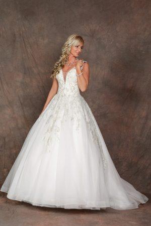 Uszályos menyasszonyi ruha – 1172
